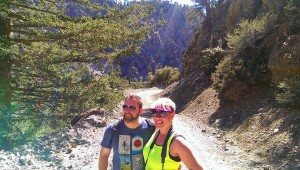 Hiking in Mount Baldy, CA with my fiancé